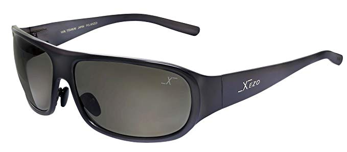 Xezo UV 400 Curve 8 Solid Titanium Polarized Sunglasses