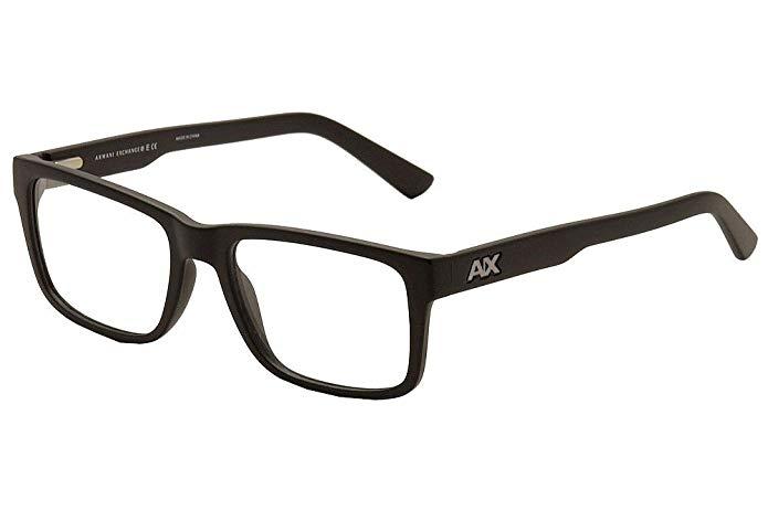Armani Exchange AX3016 Eyeglass Frames 8078-53 - Matte Black AX3016-8078-53