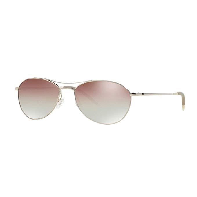 NEW Oliver Peoples Aero Sunglasses 5036/S5 Silver Chrome Violet VFX Photochromic