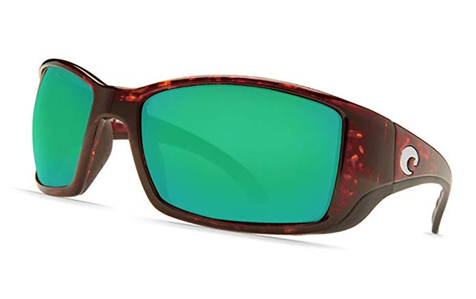 COSTA DEL MAR BLACKFIN TORTOISE GREEN MIRROR 580 GLASS BL 10 OGMGLP BL10OGMGLP