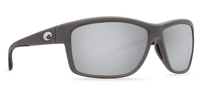 Costa Del Mar Mag Bay Sunglasses, Matte Gray, Silver Mirror 580P Lens