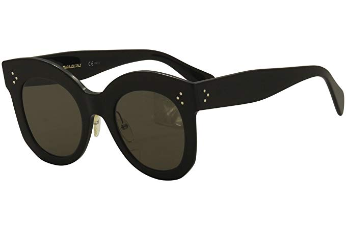 Celine CL41443/S 06Z Black Chris Round Sunglasses Lens Category 3 Size 50mm