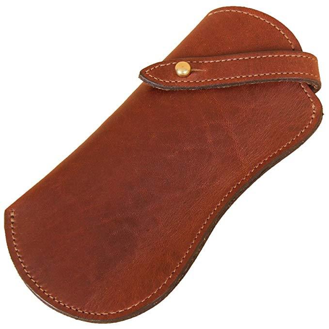 Brown Leather Eyeglass Case Holder for Reading Glasses No. 2