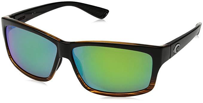 Costa del Mar Cut Sunglasses Coconut Fade/Green Mirror 580Plastic
