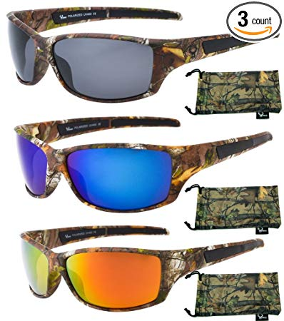 Hornz Polarized Sunglasses for Men Brown Forrest Camouflage Durable Light Weight